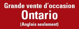 Grande vente d'occasion – Ontario