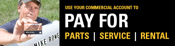 pay for parts, service, rental