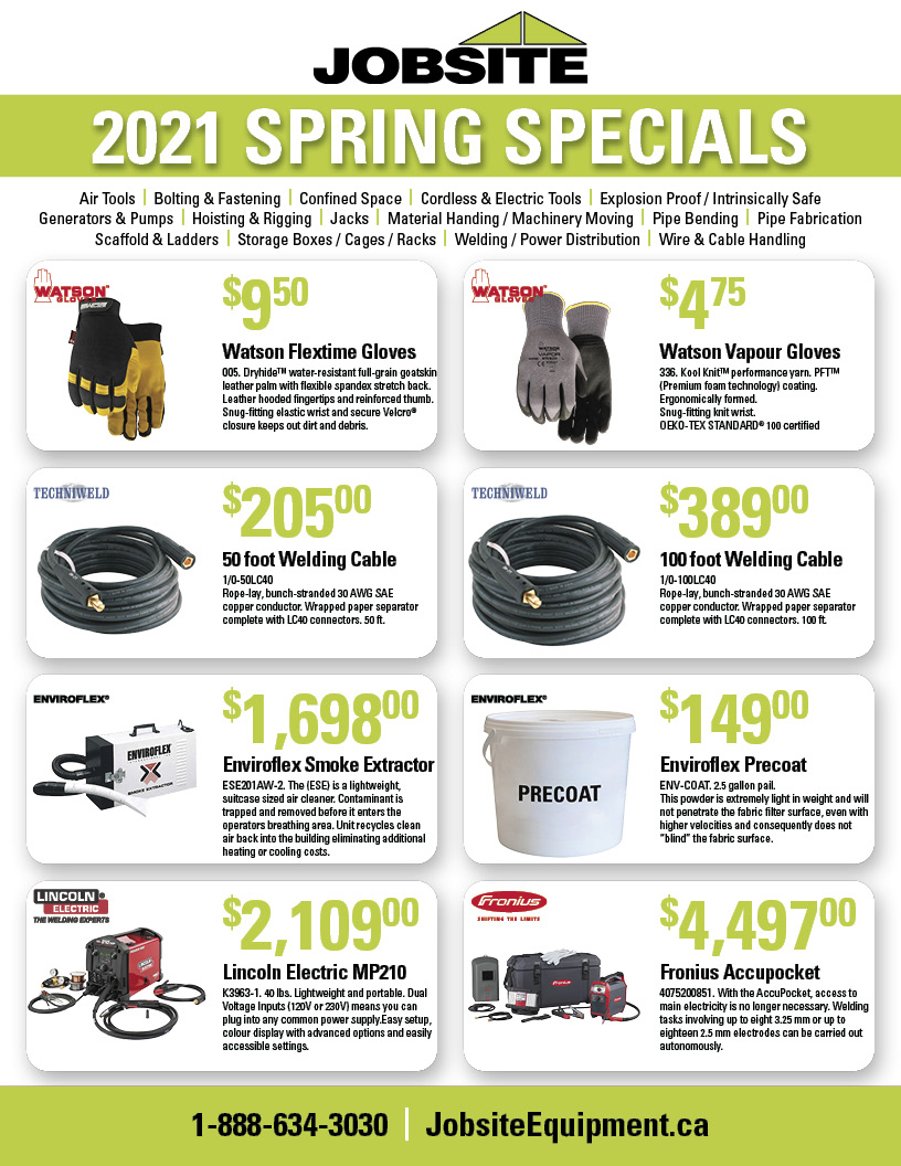 2021 Spring Sales Flyer JOBSITE EN