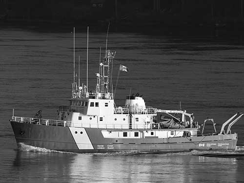 Government coast guard boat
