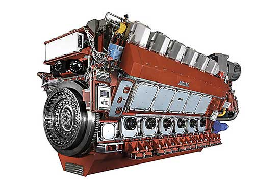 MaK propulsion engine
