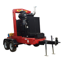 trailer hitched rental pump