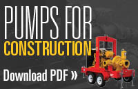 Gorman-Rupp construction pumps