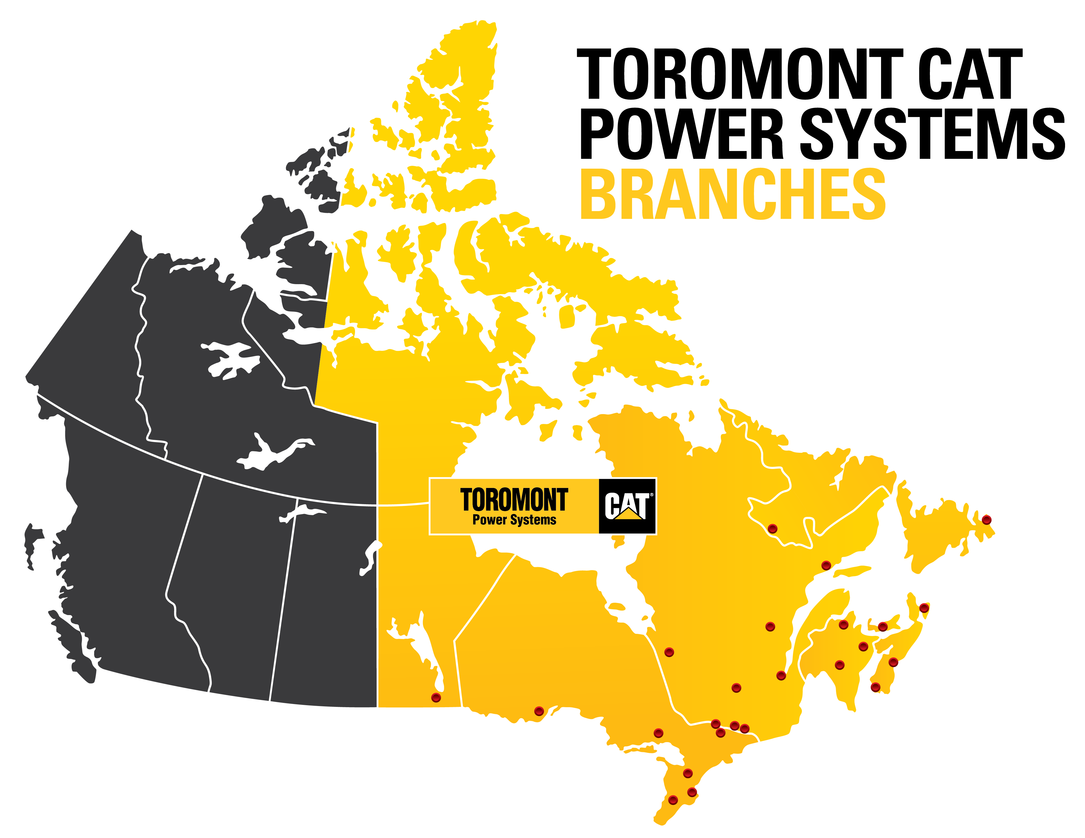 Toromont Power Systems Branch Map