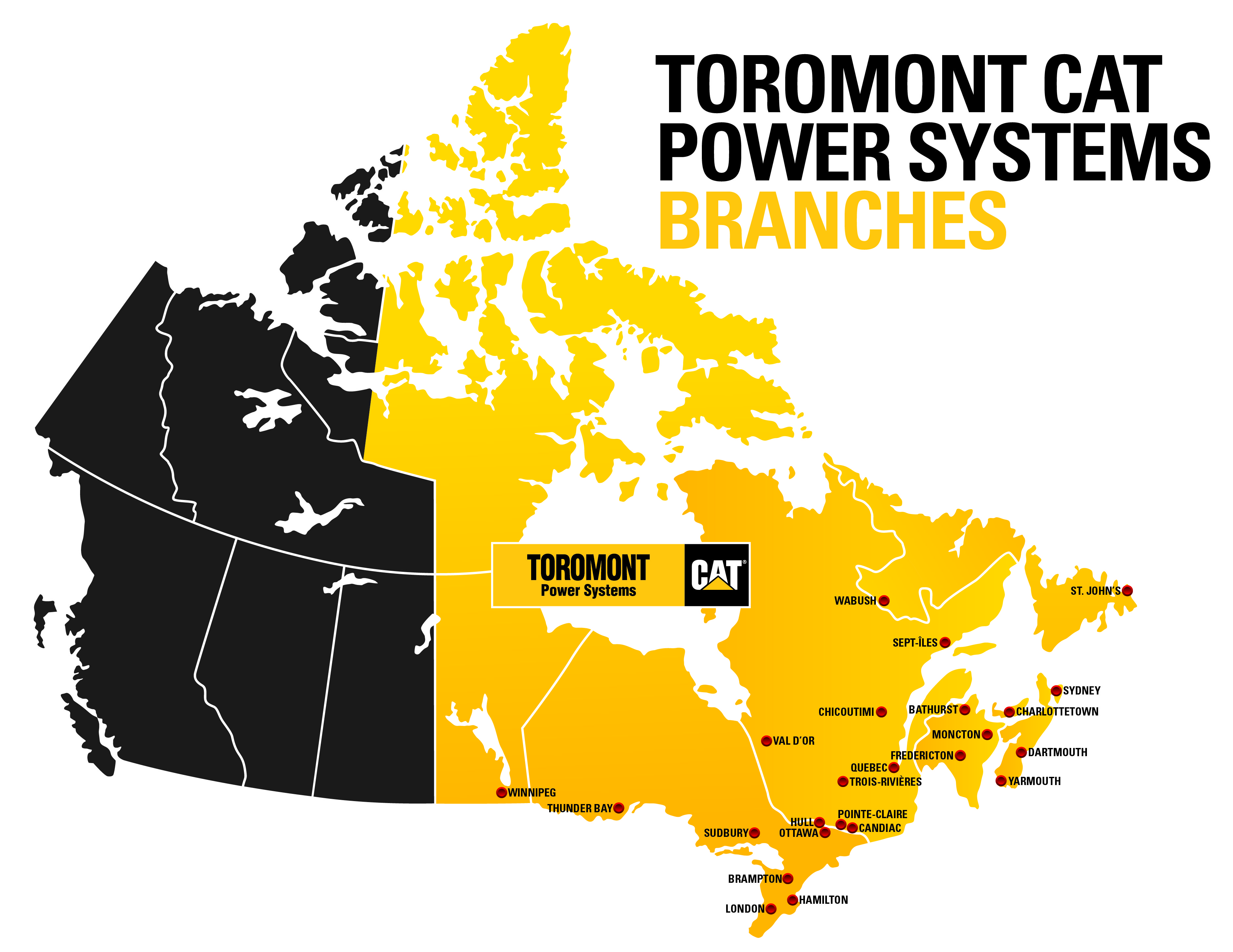 Toromont Power Systems Branch Map_2017-Labelled