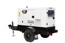 Cat rental generator set